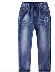 Para Meninos Jeans Cor Única