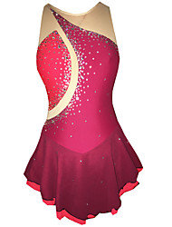 Robe de Patinage Femme Fille Sans Manches Patinage Jupes & Robes Robes Haute élasticité Robe de patinage artistiqueCompression Haute