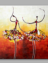 Oil Painting Abstract Two Dancing Girls with Stretched Frame Handmade Oil Painting For Home Decoration