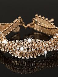 Femme Chaînes & Bracelets Bracelets de tennis Cristal Strass Zircon cubique Mode Vintage Style Punk Bijoux de LuxeArgent sterling Zircon