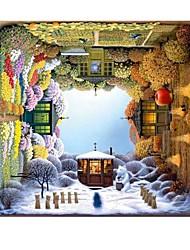 Пазлы Пазлы Строительные блоки Игрушки своими руками Квадратная Дерево Хобби и досуг