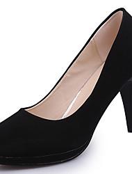 Women's Heels Formal Shoes PU Spring Summer Office & Career Dress Stiletto Heel Black 3in-3 3/4in