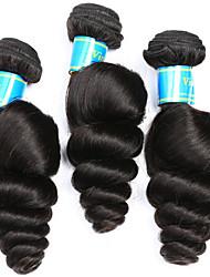 Vinsteen Brazilian Loose Wave Virgin Hair 3 Bundles Hair Wet Wavy Human Hair Loose Curl Weave Natural Color Human Hair Extensions
