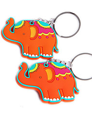 Lucky in Love Elephant Rubber Key Chain Beter Gifts® Baby Baptism Giveaways