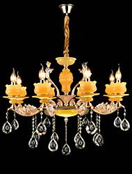 Люстры и лампы ,  Традиционный/классический Сплав цинка Особенность for Хрусталь Мини Металл Гостиная Спальня Кабинет/Офис 8 лампочек
