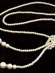 Mujer Chica Strands Collares Y-Collares Perla artificial Hebra Única Perla ArtificialDiseño Básico Diseño Único Perla Amistad Rock Estilo