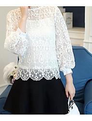 2016 Women Korean Hitz large size long-sleeved T-shirt bottoming shirt lace shirt female autumn