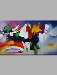 "Ready to hang Stretched Hand-Painted Oil Painting Canvas  40""x20"" Wall Art Abstract Purple Yellow Red Blue"