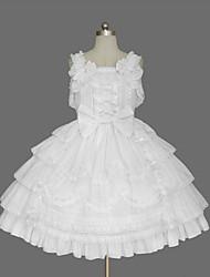 Women's Lolita Dress Cosplay Girl Classic/Traditional Lolita Elegant Princess Cosplay Lolita Dress Fashion Short Sleeve Short / MiniTuxedo