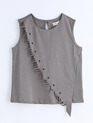 Solid Tee,Cotton Summer Sleeveless