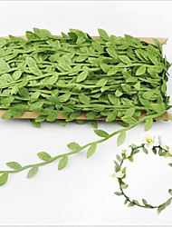 40 Meters Simulation Leaves A Card Leaves Garland Decoration Accessories Cloth Simulation Flower Green Cane Leaves