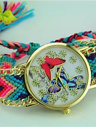 Women's Bracelet Watch Quartz Fabric Band Butterfly Bohemian Multi-Colored