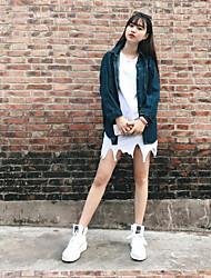 Feminino Túnicas Vestido Sólido Decote Redondo Assimétrico Sem Manga Outro Verão Cintura Média Micro-Elástica Média