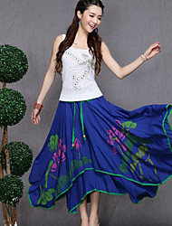 Women's Going out Midi Skirts Trumpet/Mermaid Geometric Print Spring