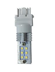 12w dc10-30v blanc 3157 t20 12led 2323smd voiture auto led lumière clignotant lumière de frein lampe inversée 1pcs