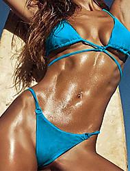 Women's Bandeau Bikini Solid Solid
