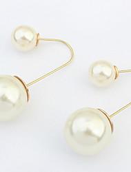 Euramerican Fashion Elegantdouble  Pearls  Earrings Lady Party Drop Earrings Movie Jewelry
