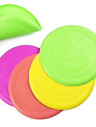 Pet Cat Dog Toys Silicone Flying Disc Pet Soft Frisbee  Arbitrary Folded Bend Dog Training Supplies