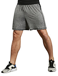 Men's Fashion High Elastic Shorts Elastic Waist Short Pants fit for Fitness/Sports/Running