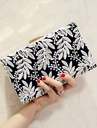 Women Shoulder Bag Silk All Seasons Event/Party Casual Club Baguette Flower Magnetic khaki Black