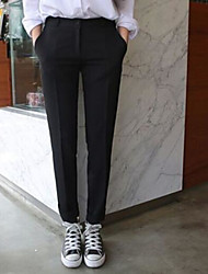 Femme Street Chic Taille Haute Micro-élastique Costume / Tailleur Pantalon,Droite