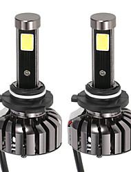 Kkmoon paire de 9006 hb4 dc 12v 40w 4000lm 6000k led phare kit lampe ampoules
