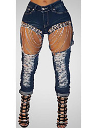Women's High Rise Micro-elastic Jeans Pants,Sexy Skinny Solid