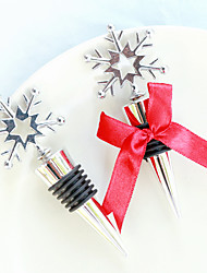 Snowflake Bottle Stopper in Shimmering Gift Box 11 x 4.8 x 3 cm/box Beter Gifts® Recipient Gifts