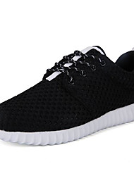 Men's Sneakers Comfort Tulle Spring Casual Screen Color Black White Flat