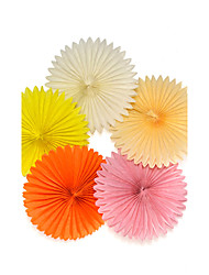 Set Of 5 pcs Paper Fans 8 Inch 20 cm Wedding Birthday Christmas Baby Shower Party Home Decoration Accessories Marriage Paper Flowers