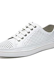 Men's Sneakers Matte Comfort Leather Spring Summer Fall Casual Matte Comfort Split Joint Flat Heel White Black Navy Blue Flat