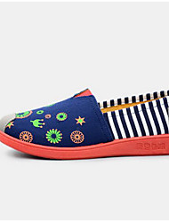 Women's Flats Comfort Canvas Spring Casual Red Navy Blue Flat