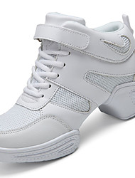 Women's Athletic Shoes PU Spring Summer Low Heel White Black Under 1in
