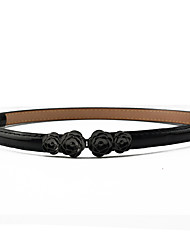 Women's Fashion Casual Candy Flower Decoration Paint Leather Belt