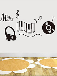 Music Wall Stickers Plane Wall Stickers Decorative Wall Stickers,Vinylal Material Home Decoration Wall Decal