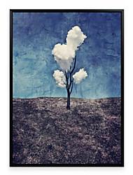 Landscape 3D Framed Art Wall Art,PS Material Black No Mat With Frame For Home Decoration Frame Art