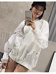 Для женщин Куртка Рубашечный воротник
