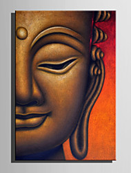 E-HOME Stretched Canvas Art Half Face Buddha Decoration Painting One Pcs