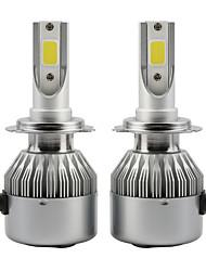 2pcs 36w conduit phare ampoules de phare voiture cob c6 h1 ip65 6000k blanc auto lampe dc9-36v