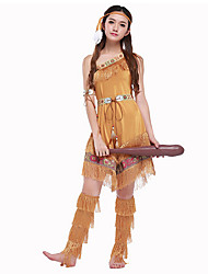Tassels Indian Queen CostumesIndian Costume Womens Pocahontas Native American Indian Wild West Fancy Dress