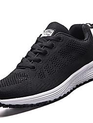Women's Athletic Shoes PU Spring Summer Low Heel Black Purple Ruby Under 1in