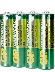 GP GP15GBJ4 AA Cardon Zinc Dry Cell Battery 1.5V 40 Pack
