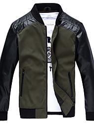 Veste Homme,Couleur Pleine Quotidien Décontracté Vêtements de Plein Air Vestes Classique Rétro Coupe-vent Mode Automne HiverManches