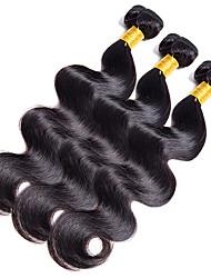 Full Head 300g/3Bundles Body Wave Human Hair 10-20Inch Dark Black Human Hair Weaves