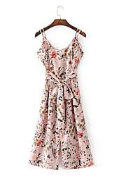 Femme Style floral Décontracté / Quotidien Combinaison-pantalon,Large Mode Eté