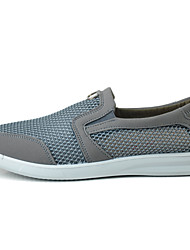 Men's Loafers & Slip-Ons Light Soles Tulle Summer Casual Flat Heel Coffee Gray Flat