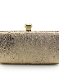 Couro Ecológico Poliéster Metal Corrente de Metal Fecho de Apertar Dourado Prata Azul Pálido