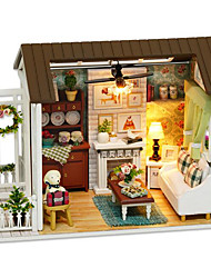 DIY KIT House Resin Wood Plastic Paper Children's