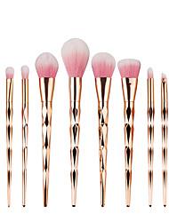 10pcs про алмаз формы косметический макияж кисти набор порошок теней для век кисть радуга золотой комплект