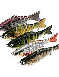 5 pçs Jerkbaits Vairão g/Onça,10cm mm polegada Pesca de Mar Rotação Pesca Baixa Pesca de Isco Pesca Geral Pesca de Isco e Barco